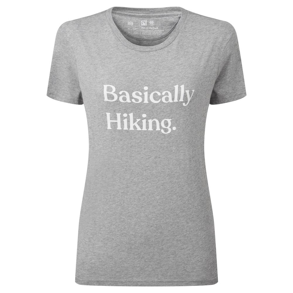 tentree Basically Hiking Boyfriend T-Shirt Womens Heather Grey