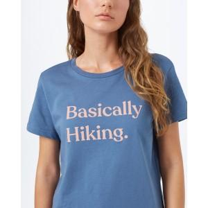 Basically Hiking Boyfriend T-Shirt Womens Spruce Blue