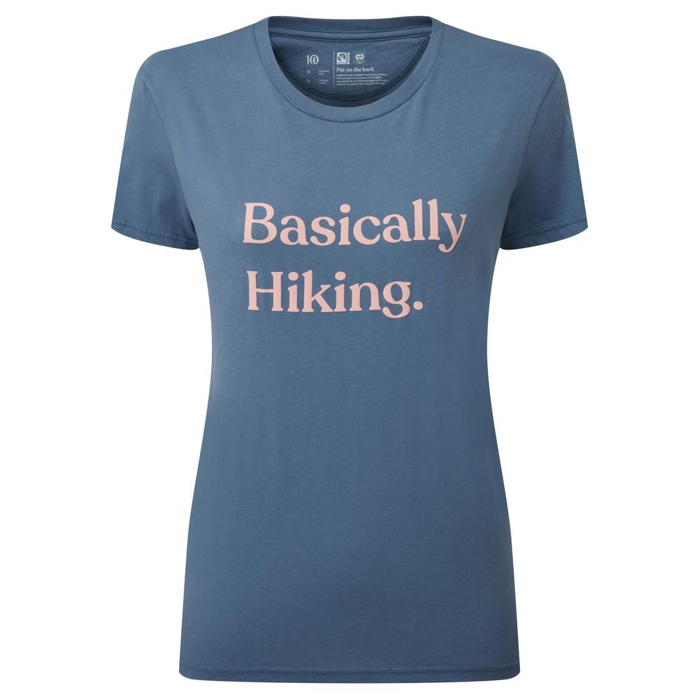 tentree Basically Hiking Boyfriend T-Shirt Womens Spruce Blue