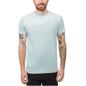tentree Juniper Classic T-Shirt Mens in Pine Mist Blue Heather