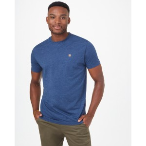 tentree TreeBlend Classic T-Shirt Mens in Dark Ocean Blue Heather