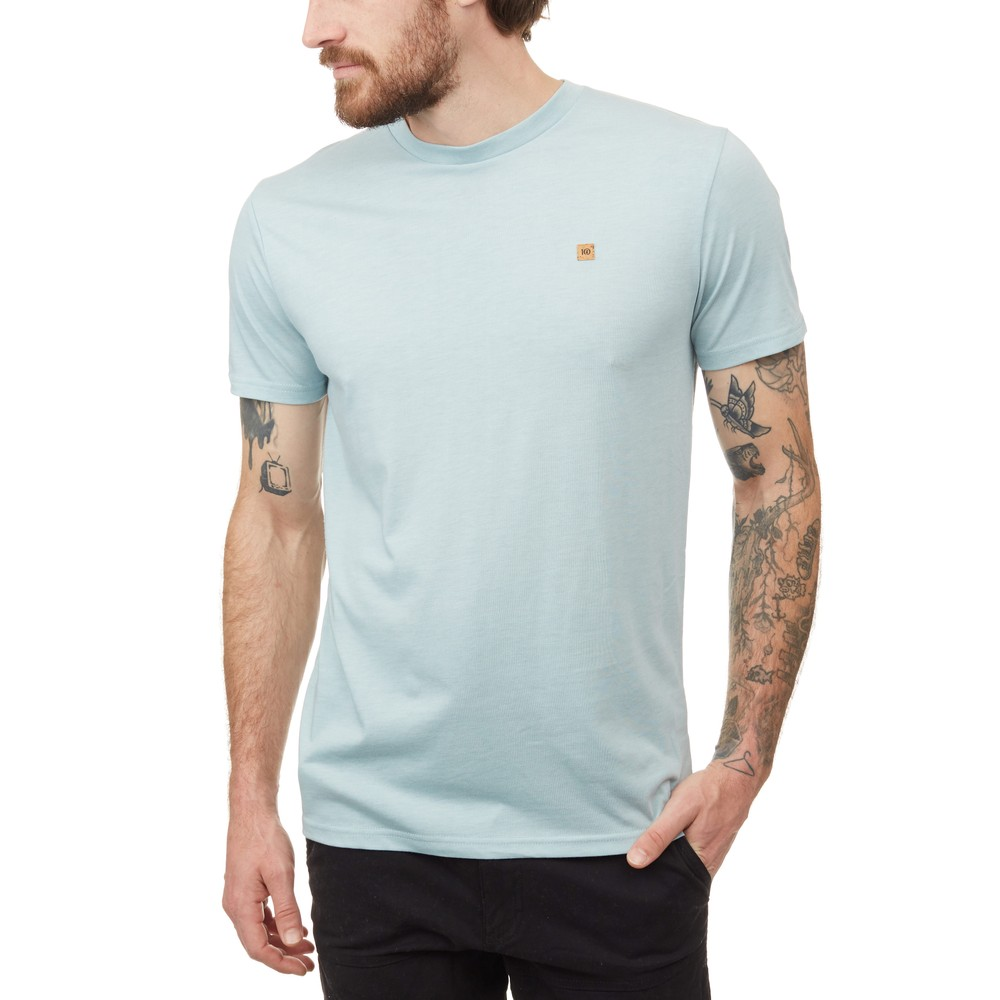 tentree TreeBlend Classic T-Shirt Mens Pine Mist Blue Heather