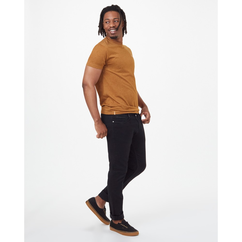 tentree TreeBlend Classic T-Shirt Mens Rubber Brown Heather