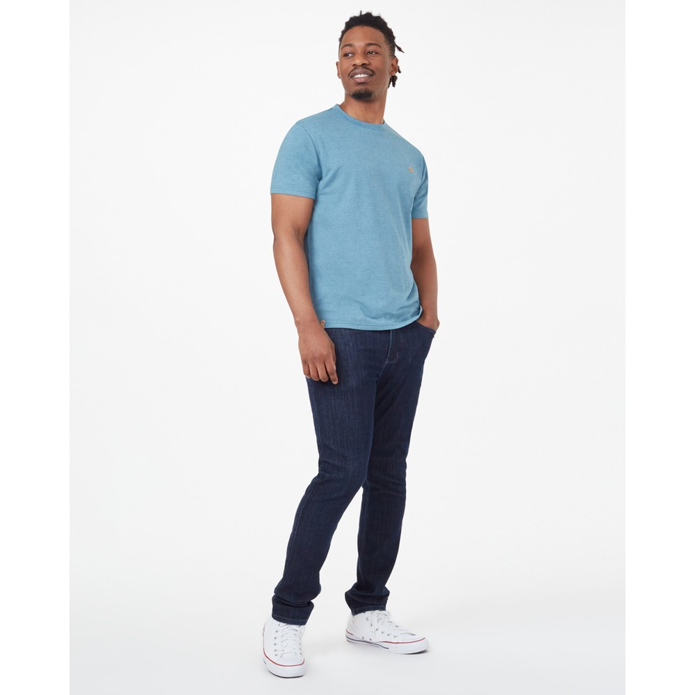tentree Hemp Step Hem T-Shirt Mens Tide Blue