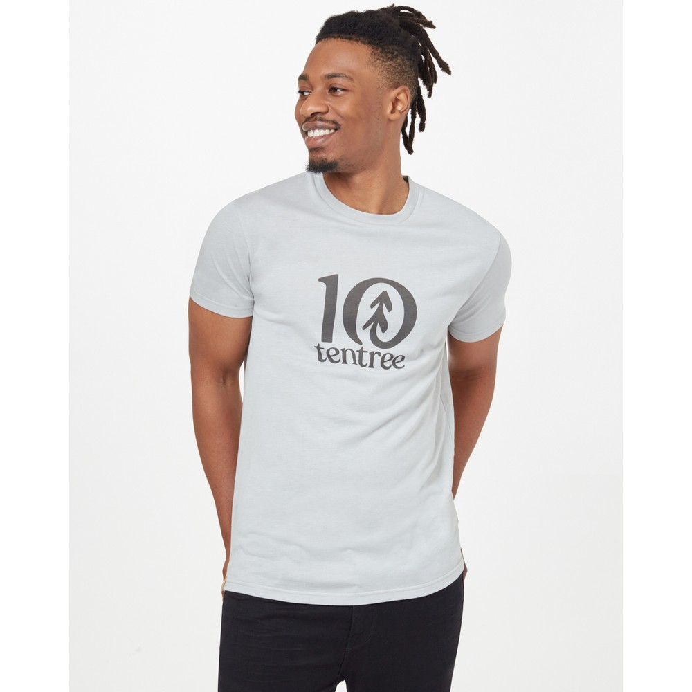 tentree Logo Classic T-Shirt Mens Hi Rise Grey Heather