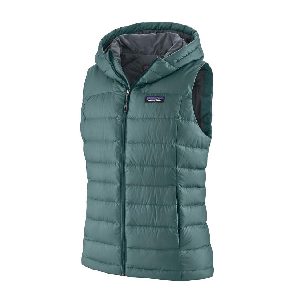 Patagonia Hi-Loft Down Hooded Vest Womens Regen Green
