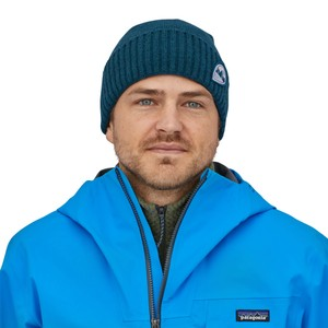 Patagonia Brodeo Beanie in Tube View: Crater Blue