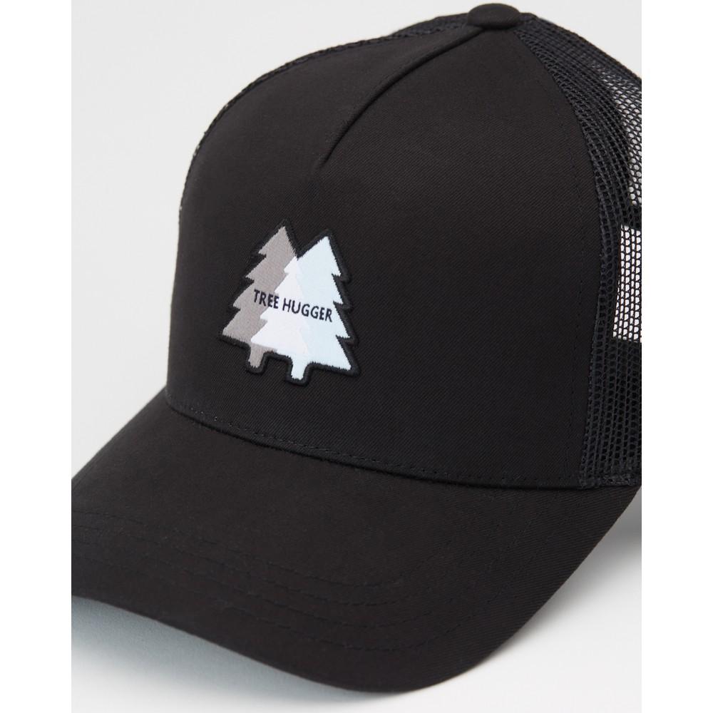 tentree Woven Patch Altitude Hat Meteorite Black