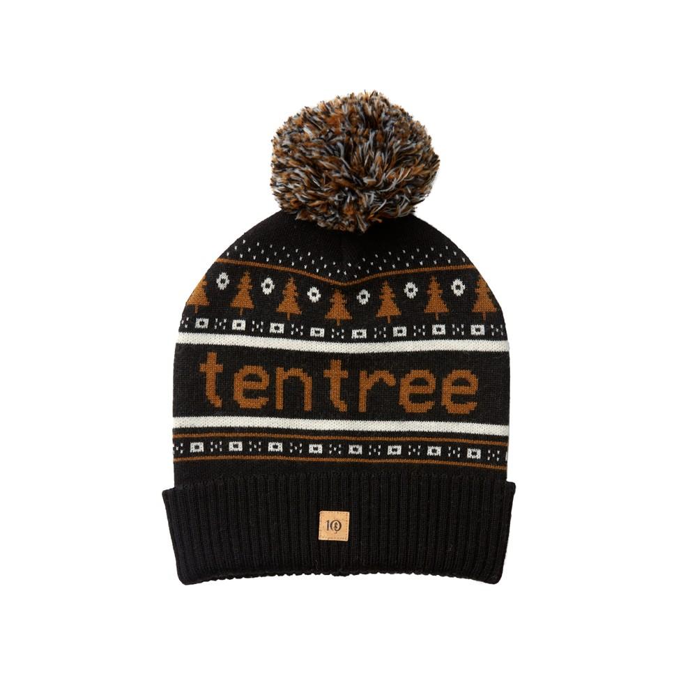 tentree Cabin Beanie Meteorite Black/Rubber Brown