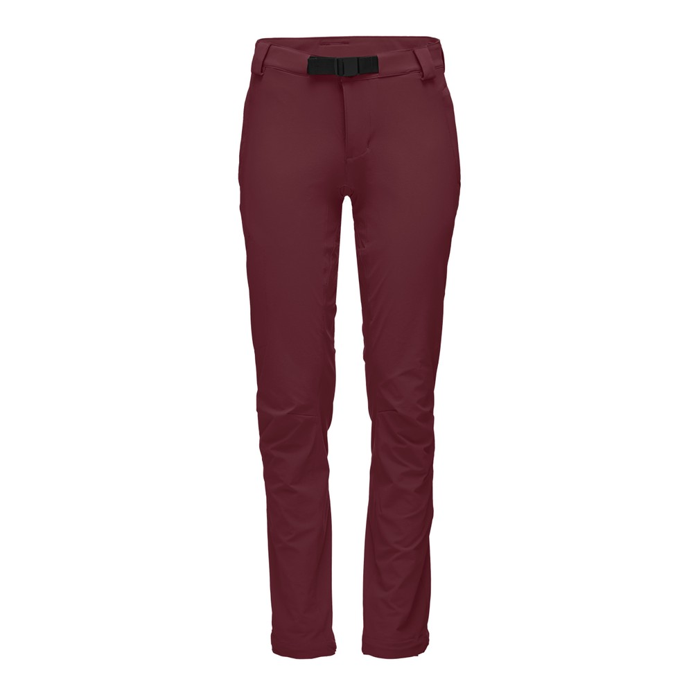 Black Diamond Alpine Pants Womens Bordeaux