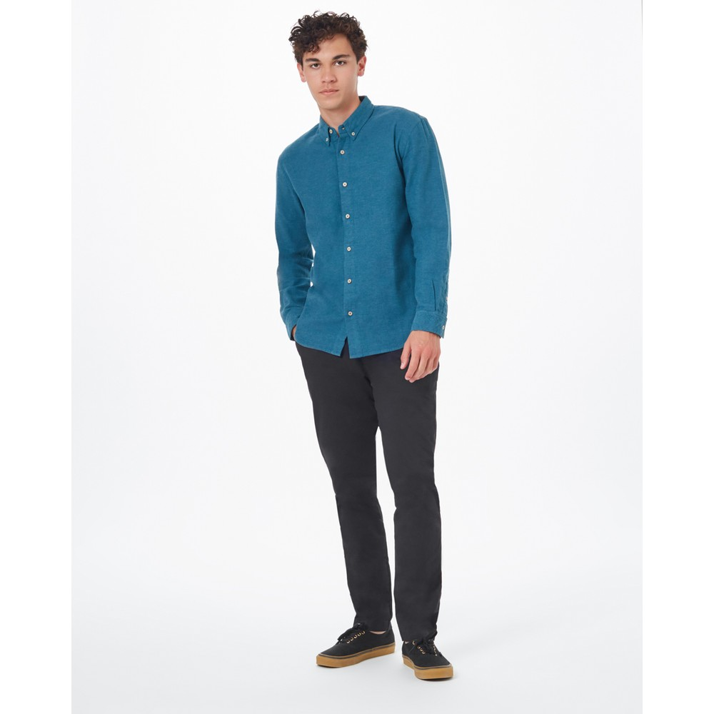 tentree Veddar Flannel Shirt Mens Deep Teal