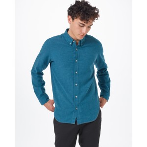 tentree Veddar Flannel Shirt Mens in Deep Teal