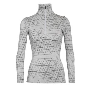 Icebreaker Vertex 250 LS Half Zip Ice Structure Womens in Snow