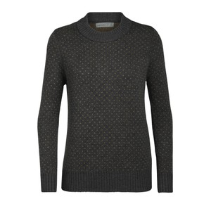 Waypoint Crewe Sweater Womens Charcoal Hthr/Saffron Hthr