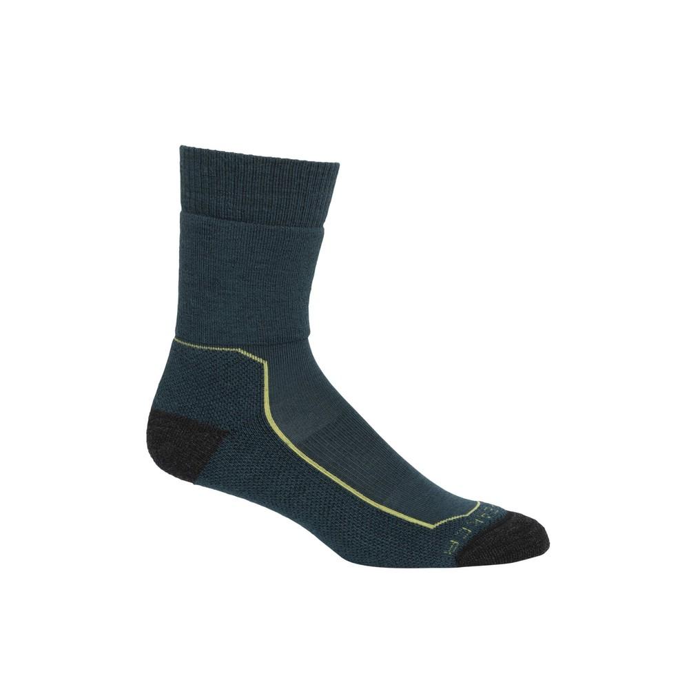 Icebreaker Hike  Medium Crew Sock Womens Nightfall/Aloe