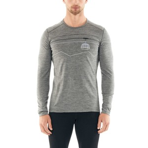 Icebreaker Oasis 200 LS Peak to Peak Lift Mens