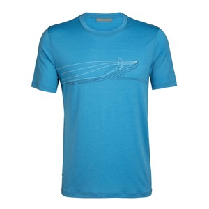 Icebreaker Tech Lite SS Crewe Single Line Whale Mens