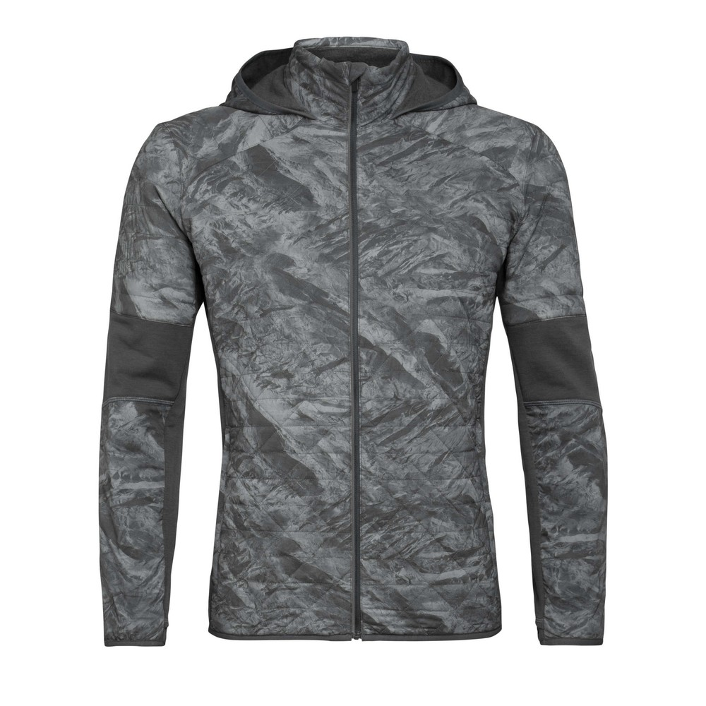 Icebreaker Headwaters Hybrid Hooded Jacket Mens Mineral