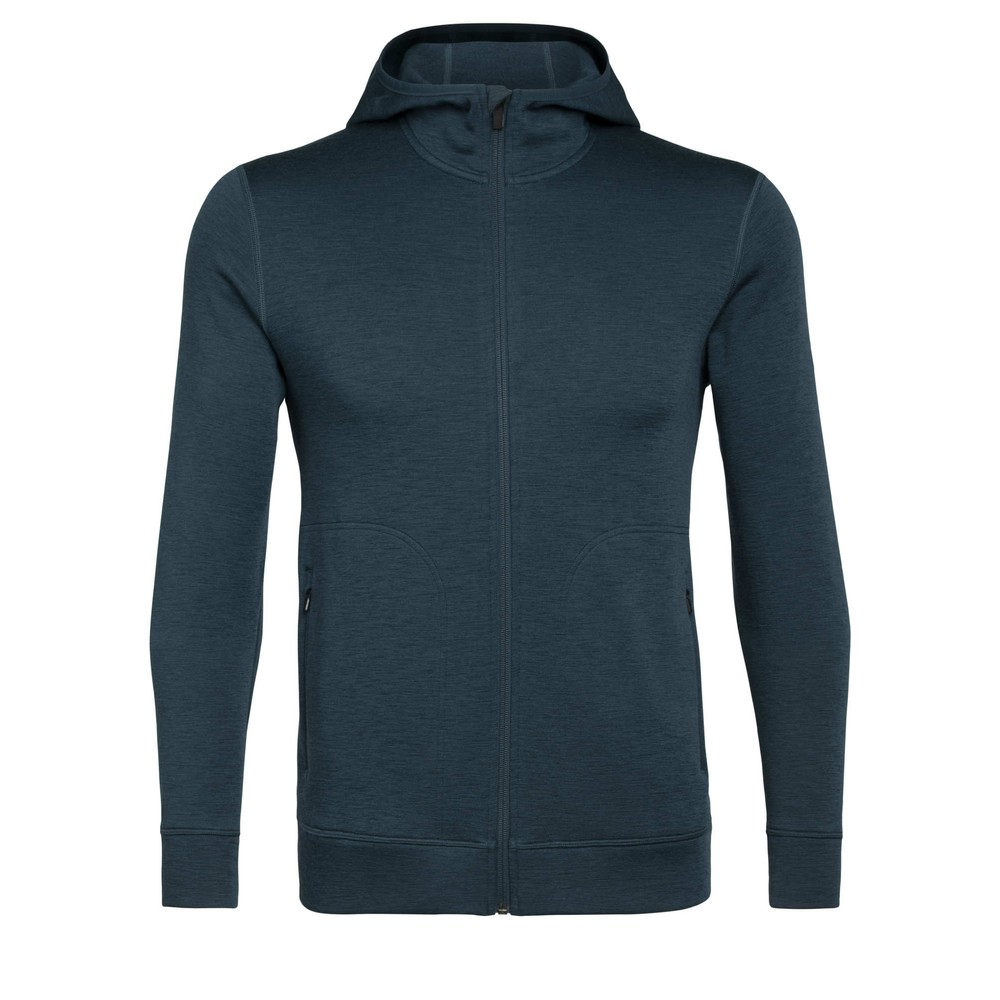 Icebreaker Elemental LS Zip Hood Mens Nightfall