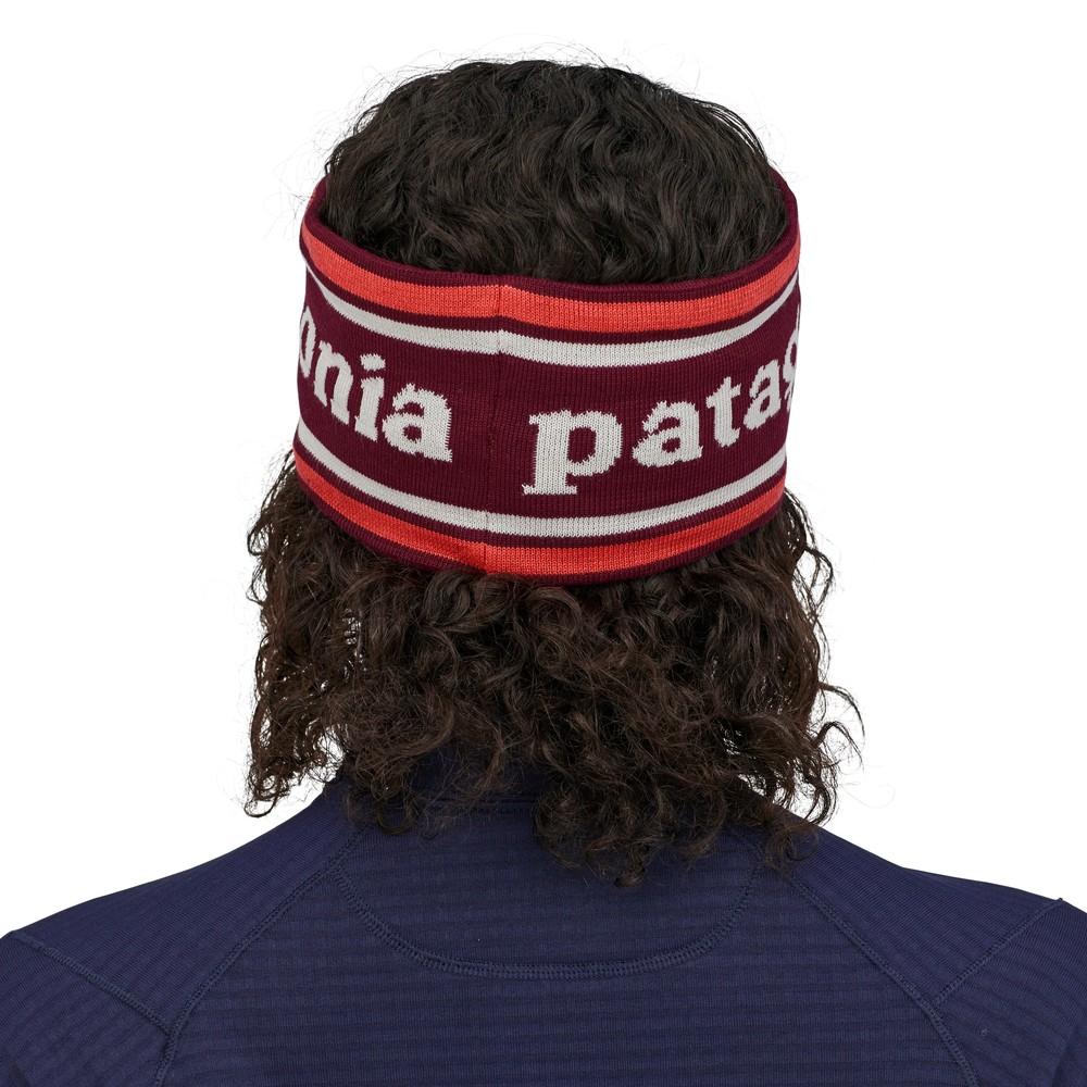 Patagonia Powder Town Headband Park Stripe: Roamer Red