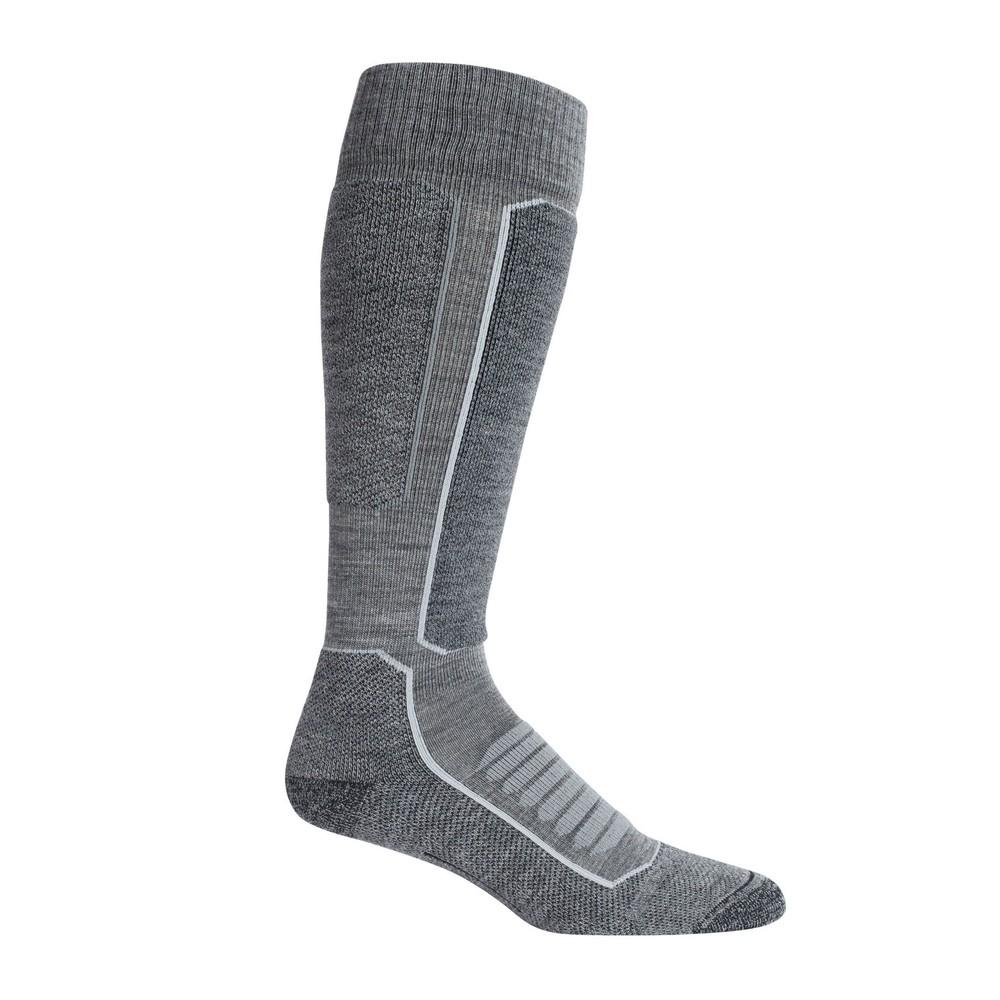 Icebreaker Ski  Medium OTC Sock Mens Gritstone HTHR/Black