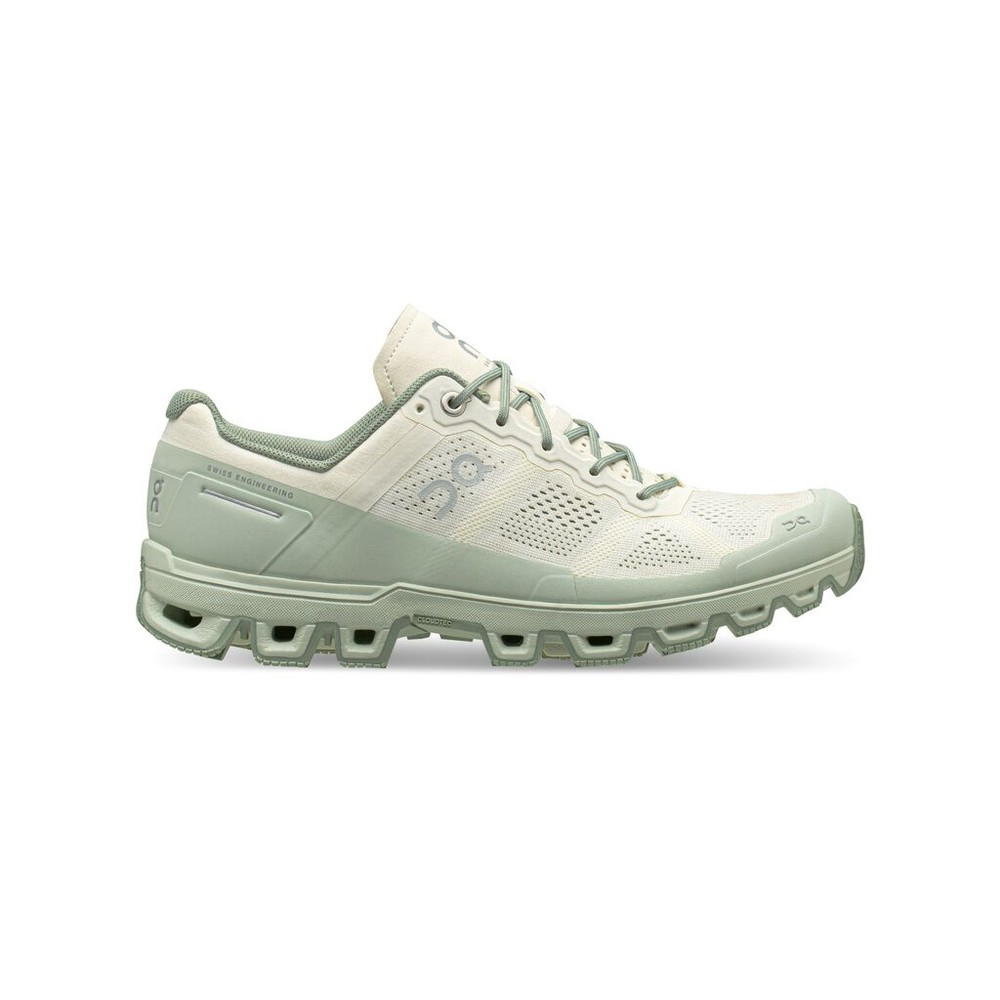 On Running Cloudventure Womens White/Moss