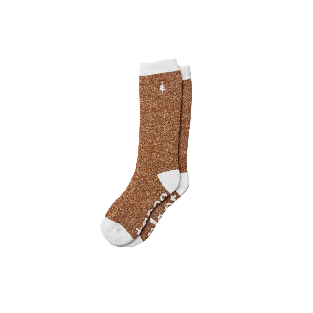 tentree Selkirk Embroidered Sock Rubber Brown Marled
