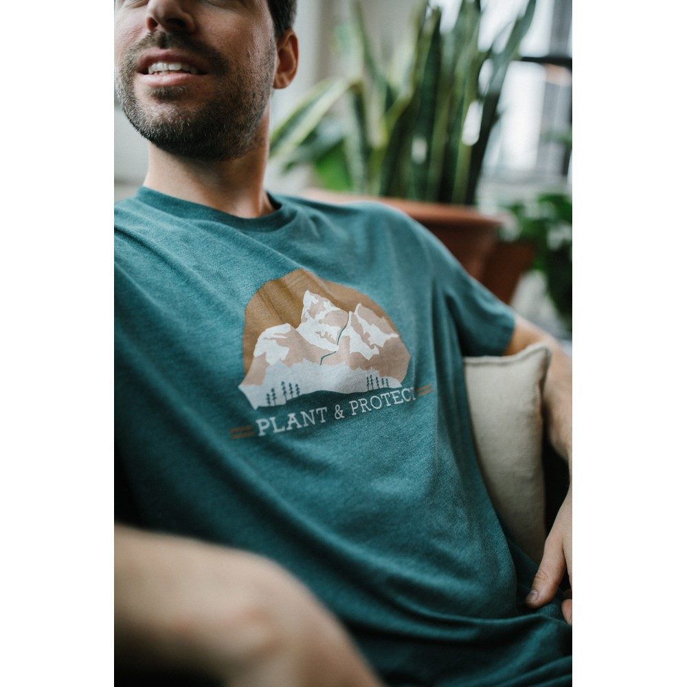 tentree Plant & Protect Classic T-Shirt Mens Deep Teal Heather