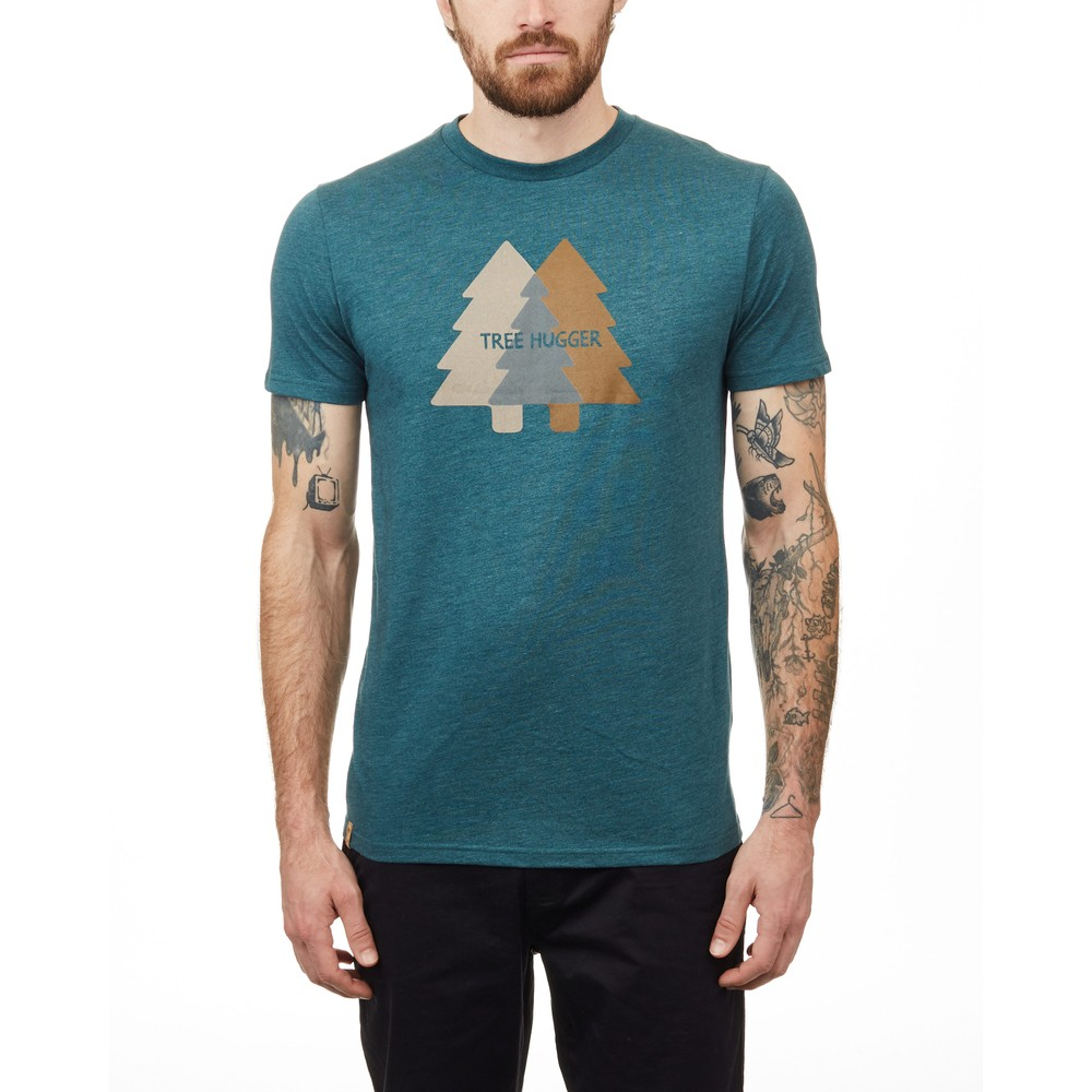 tentree Tree Hugger Classic T-Shirt Mens Deep Teal Heather