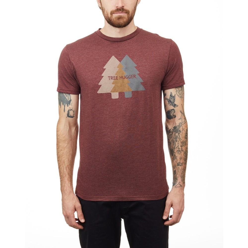tentree Tree Hugger Classic T-Shirt Mens Red Mahogany