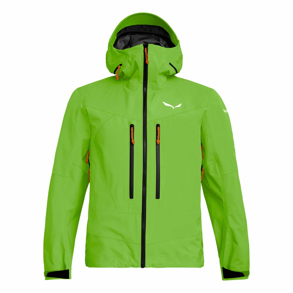 Salewa Ortles 3 GTX Pro Jacket Mens Pale Frog