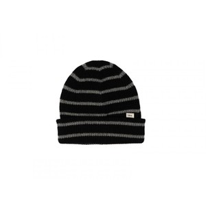 Tilley Endurables Merino Stripe Beanie in Black/Grey Mix