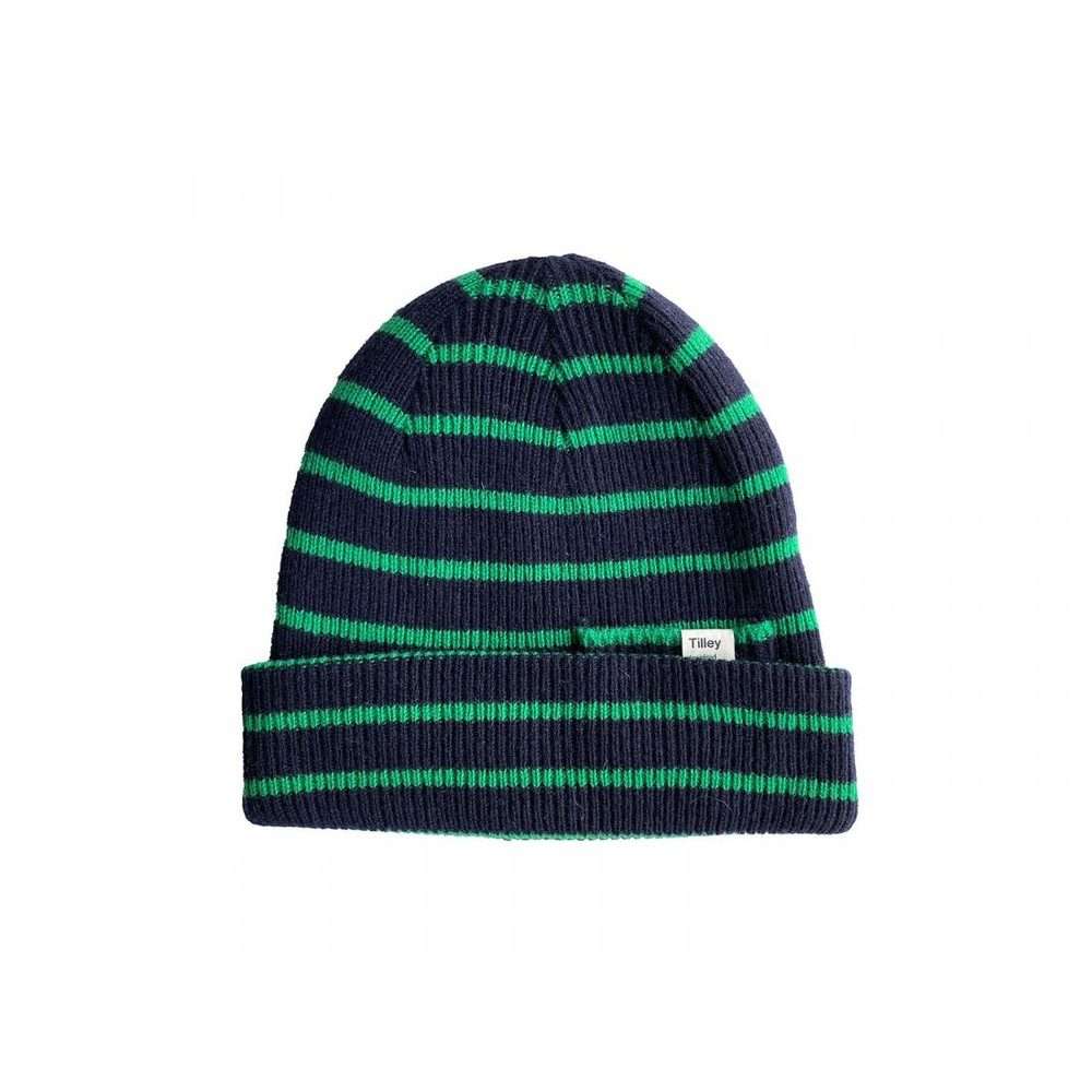 Tilley Endurables Merino Stripe Beanie Navy/Green