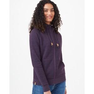 tentree Burney Zip Hoodie Womens in Aubergine Purple Heather