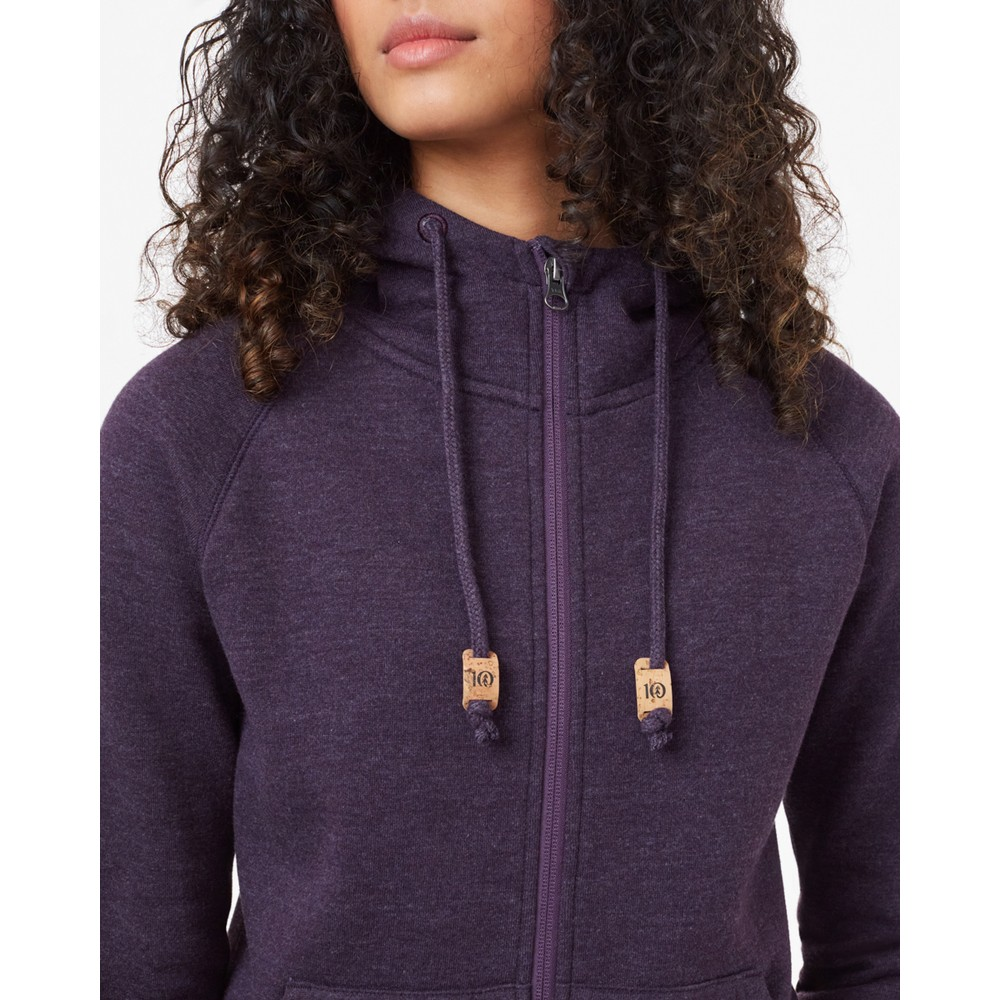 tentree Burney Zip Hoodie Womens Aubergine Purple Heather