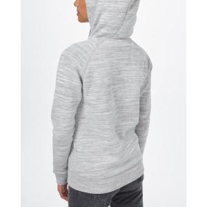Burney Zip Hoodie Womens Hi Rise Grey Space Dye