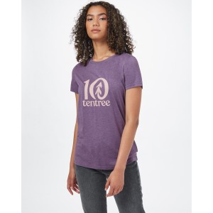 tentree tentree Logo Classic T-Shirt Womens in Vintage Violet Heather