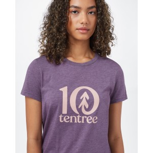 tentree Logo Classic T-Shirt Womens Vintage Violet Heather