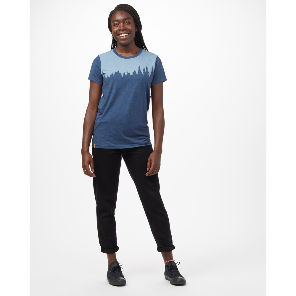 tentree Juniper Classic T-Shirt Womens Dark Ocean Blue Heather