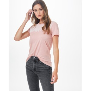 tentree Juniper Classic T-Shirt Womens in Misty Rose Pink Heather
