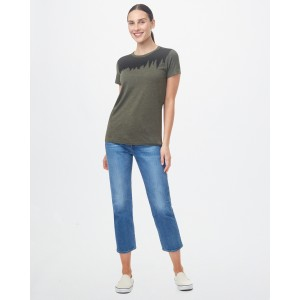 Juniper Classic T-Shirt Womens Olive Night Green Heather