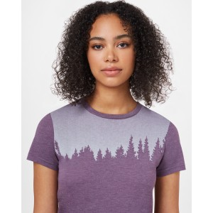 Juniper Classic T-Shirt Womens Vintage Violet Heather