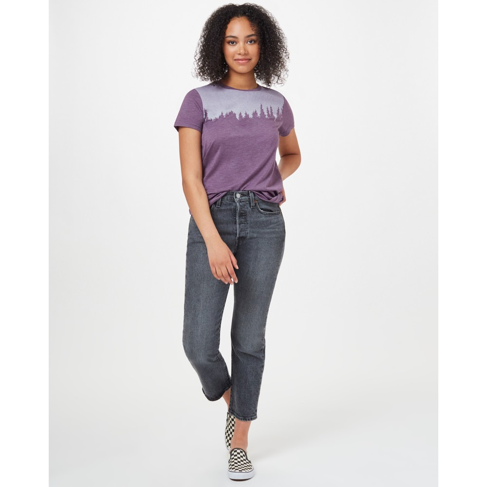 tentree Juniper Classic T-Shirt Womens Vintage Violet Heather