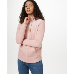 tentree Juniper Zip Hoodie Womens in Quartz Pink Heather