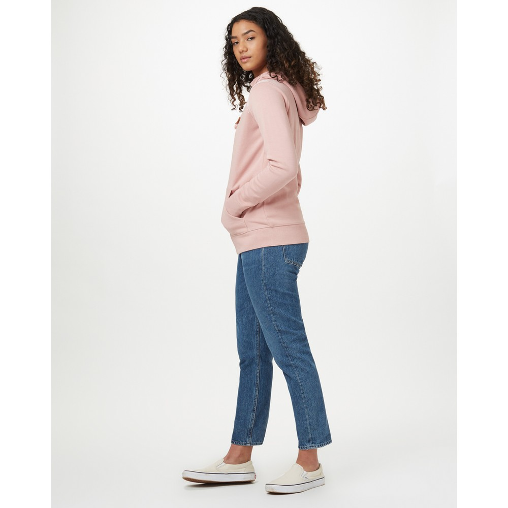 tentree Juniper Zip Hoodie Womens Quartz Pink Heather