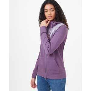 tentree Juniper Zip Hoodie Womens in Vintage Violet Heather