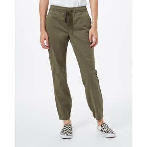 tentree Pacific Pant Womens in Olive Night Green