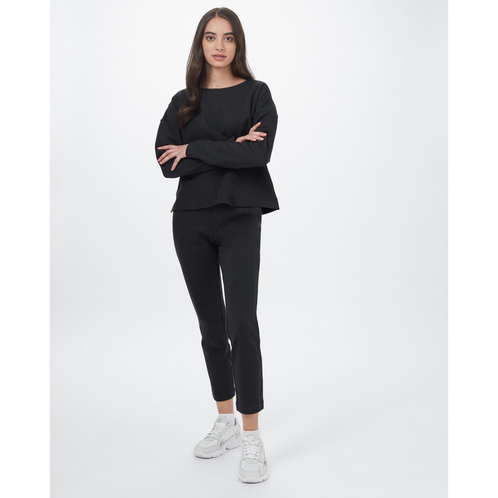 tentree Clay Longsleeve Womens Meteorite Black