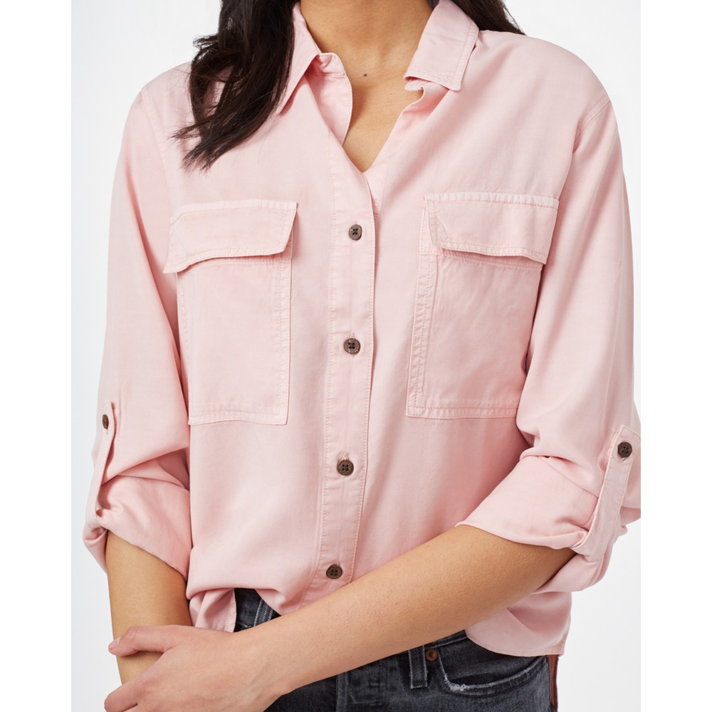 tentree Tencel Everyday Blouse Womens Misty Rose Pink