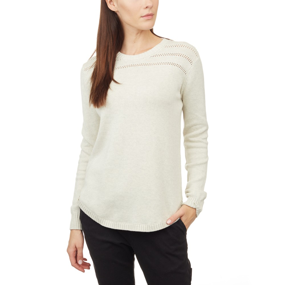 tentree Forever After Sweater Womens Elm White Heather